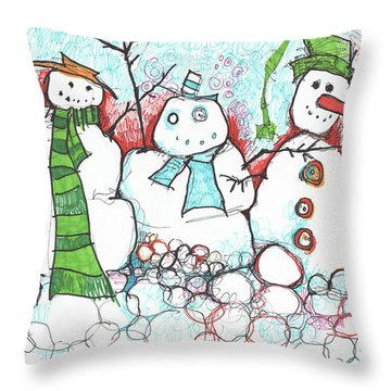 Yuletides From The Brink Throw Pillow