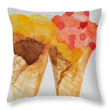 Yum Yum Throw Pillow by Betty-Anne McDonald