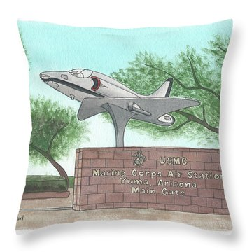 Yuma Welcome Throw Pillow