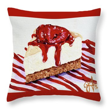Throw Pillow featuring the painting Yumminess by Jackie Carpenter