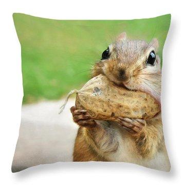 Yummy Throw Pillow by Lori Deiter