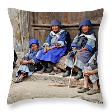 Yunnan Women Throw Pillow