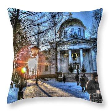 Yury Bashkin Churches, Russia Throw Pillow