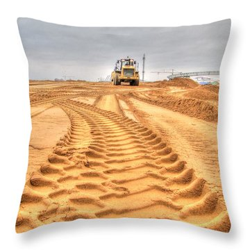 Yury Bashkin The Road On The Construction Throw Pillow
