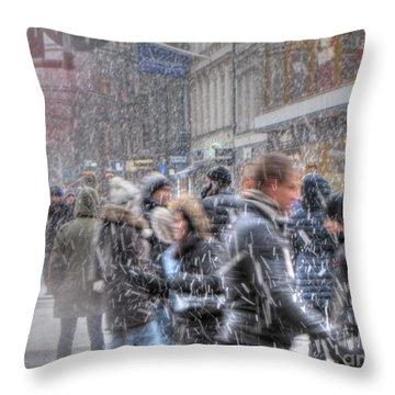 Yury Bashkin Winterstockholm Throw Pillow by Yury Bashkin