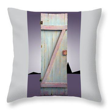 Z Door To New Frontiers Throw Pillow by Asha Carolyn Young and Daniel Furon