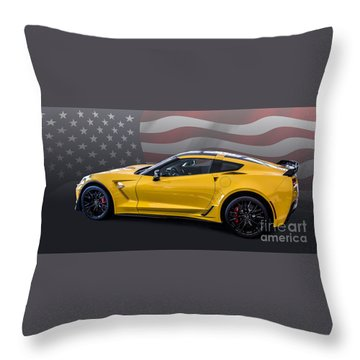 Z06 America Throw Pillow