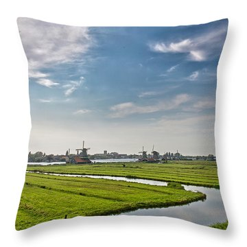 Zaandam Polders Throw Pillow
