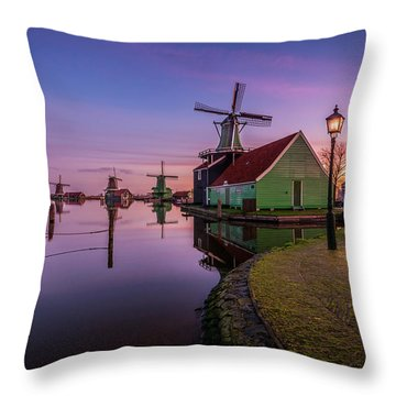 Zaanse Schans Holiday  Throw Pillow