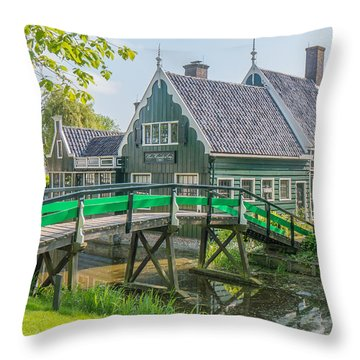 Zaanse Schans Village Throw Pillow