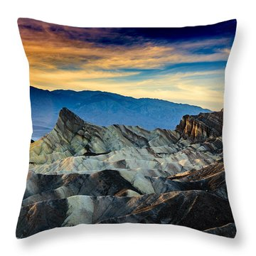 Zabriskie Point At Sundown Throw Pillow