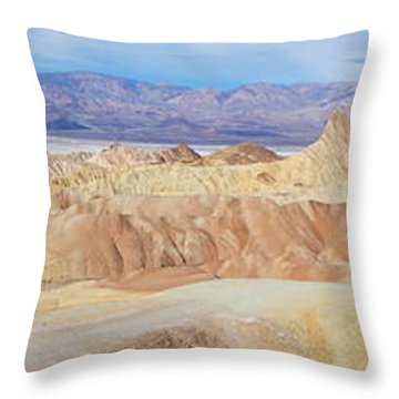 Zabriski Point Panoramic Throw Pillow
