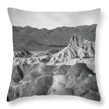 Zabriskie Point Landscape Throw Pillow