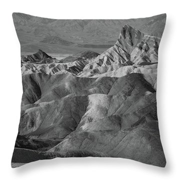 Zabriskie Point Portrait Throw Pillow