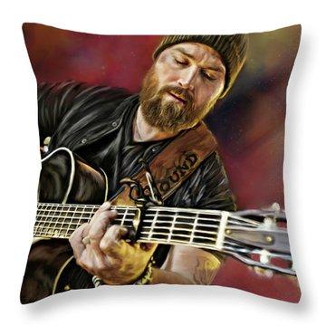 Zac Brown Throw Pillow