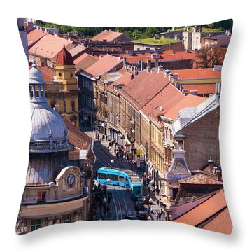 Zagreb Afternoon Throw Pillow by Rae Tucker