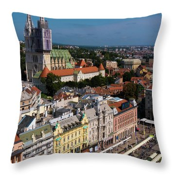 Zagreb Throw Pillow by Rae Tucker