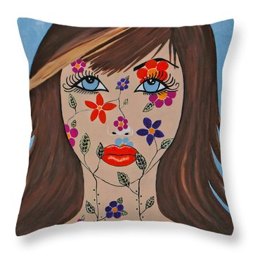 Zahir - Contemporary Woman Art Throw Pillow