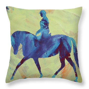 Throw Pillow featuring the painting Zahrah by Candace Shrope