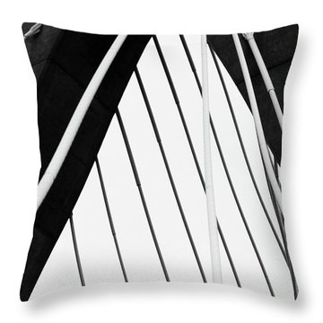 Zakim 5 High Contrast Throw Pillow