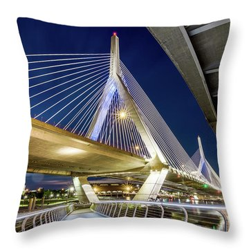Zakim Bridge From Bridge Under Another Bridge Throw Pillow