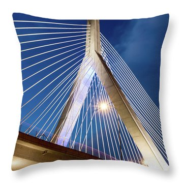 Zakim Bridge Upclose Throw Pillow