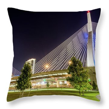 Zakim Bridge Throw Pillow