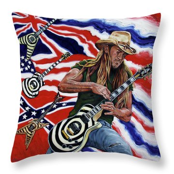 Zakk Wylde Throw Pillow by John Lautermilch