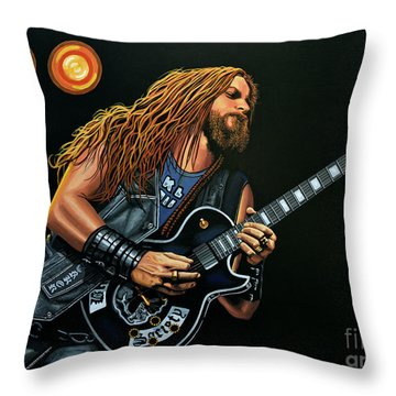 Zakk Wylde Throw Pillow