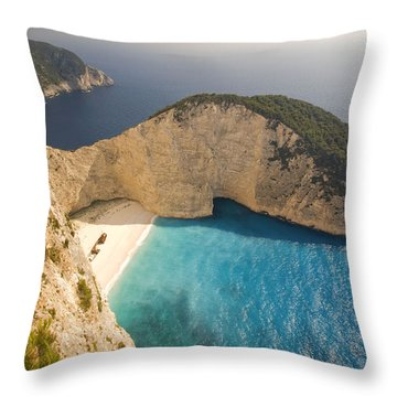Throw Pillow featuring the photograph Zakynthos Beach by Juergen Held