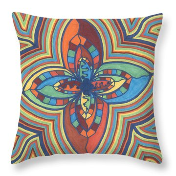 Zany Flower Throw Pillow