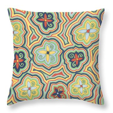 Zany Garden Throw Pillow