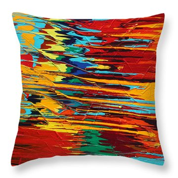 Zap Throw Pillow by Ralph White