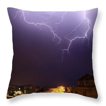 ZAP Throw Pillow by Shane Bechler