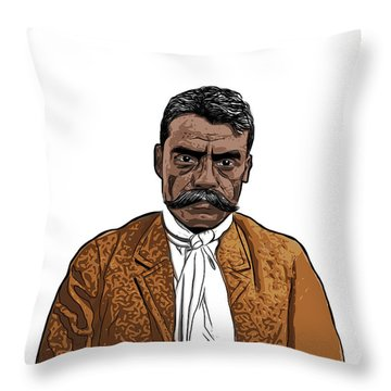 Throw Pillow featuring the digital art Zapata by Antonio Romero