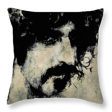 Frank Zappa Paintings Throw Pillows