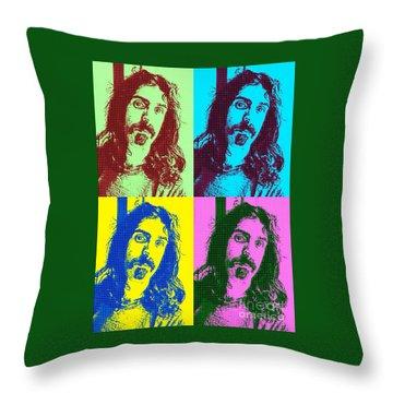 Zappa Pop Art Throw Pillow