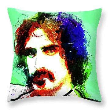 Zappa Portrait  Throw Pillow