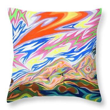 Zapped Throw Pillow by Robert SORENSEN