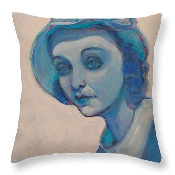 Zasu In Blue Throw Pillow