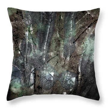 Zauberwald Vollmondnacht Magic Forest Night Of The Full Moon Throw Pillow