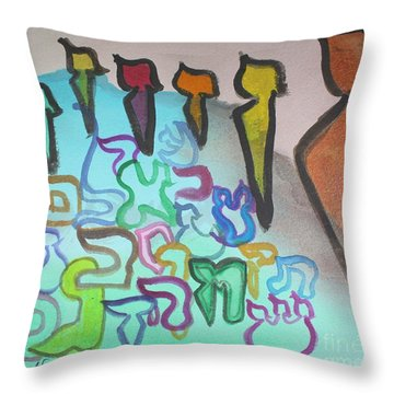 Zayin, Protecting The Tribe Ab24 Throw Pillow