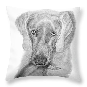 Throw Pillow featuring the drawing ZEB by Mike Ivey