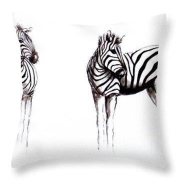 Zebbies Throw Pillow