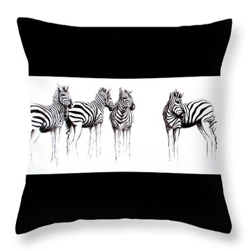 Zebbies Throw Pillow