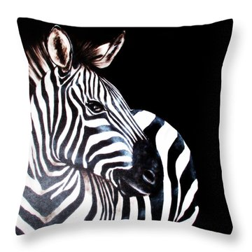 Zebra 2 Throw Pillow