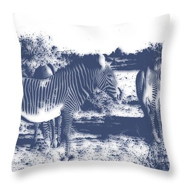 Zebra 4 Throw Pillow