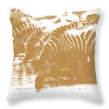 Zebra 5 Throw Pillow