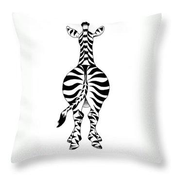 Zebra Throw Pillow by Annemeet Hasidi- van der Leij