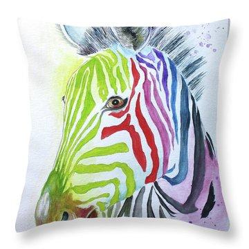 My Polychromatic Friend Throw Pillow